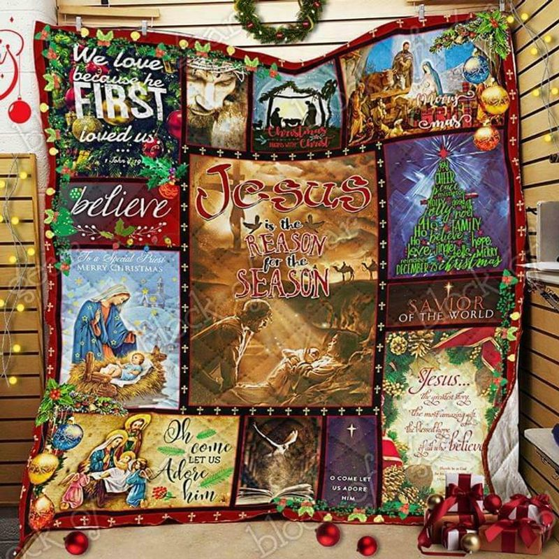 Jesus Is The Reason For The Seasons 60-102 Washable Polycotton Quilt 3 Sizes