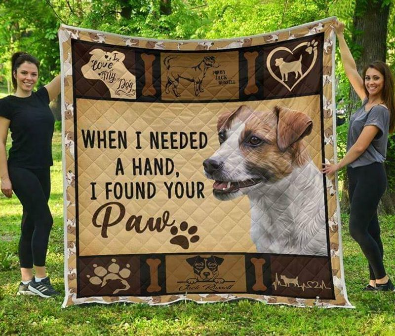 Jack Russell When Its Too Hard To Look Back Look Right Beside You Cotton Quilt