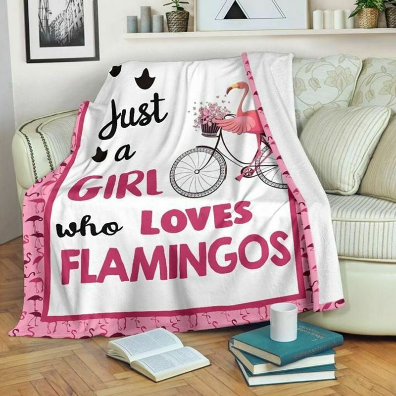 Just A Girl Who Loves Flamingos 60-102 Washble Preshrunk Poly Cotton Quilt