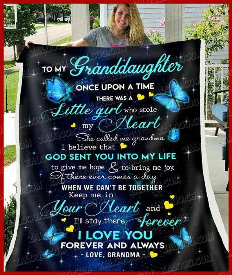 To My Granddaughter There Was A Little Girl Who Stole My Heart Poly Cotton Quilt