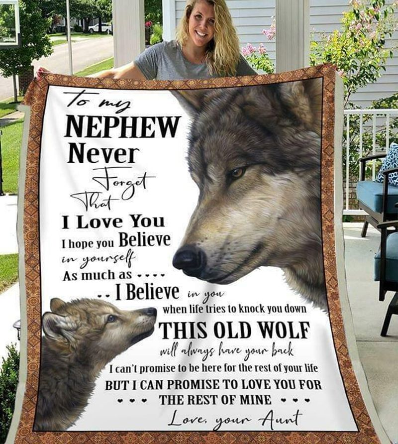 Wolf To My Nephew Never Forget That I Love You Love Your Aunt Quilt 3 Sizes