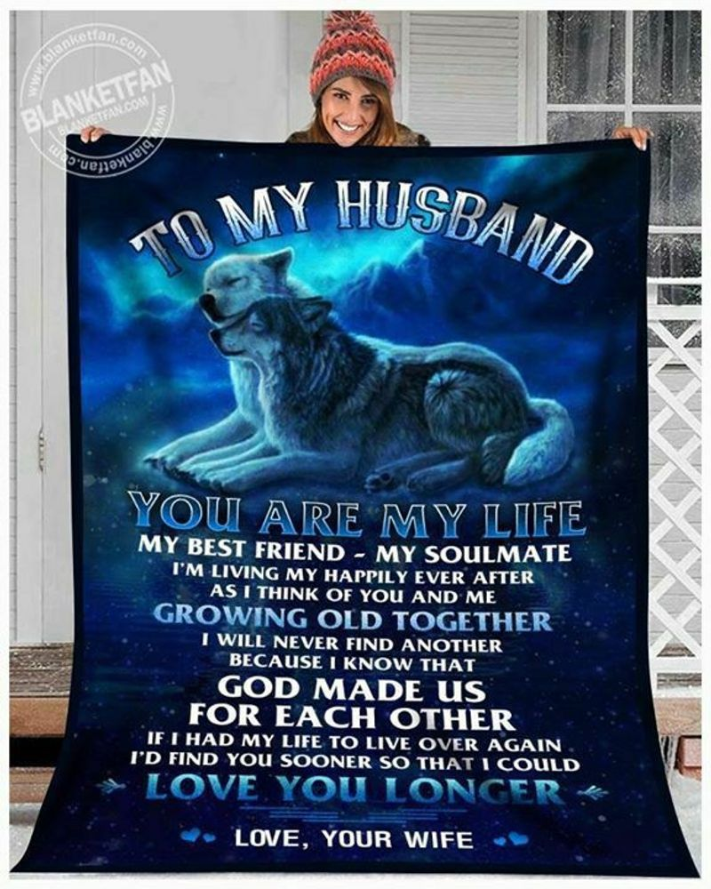 Wolf To My Husband You Are My Life My Best Friend My Soul Mate Polycotton Quilt