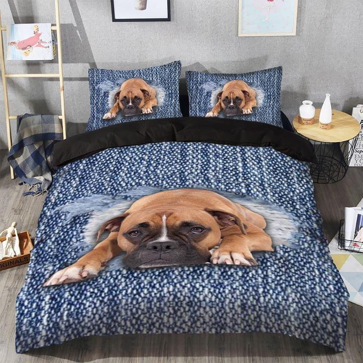 Lazy Bulldog Lying Down Dog Lovers Bedding Set