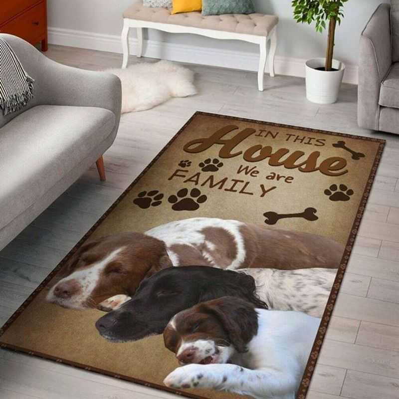 English Springer Spaniel In This House We Are Family Area Rug