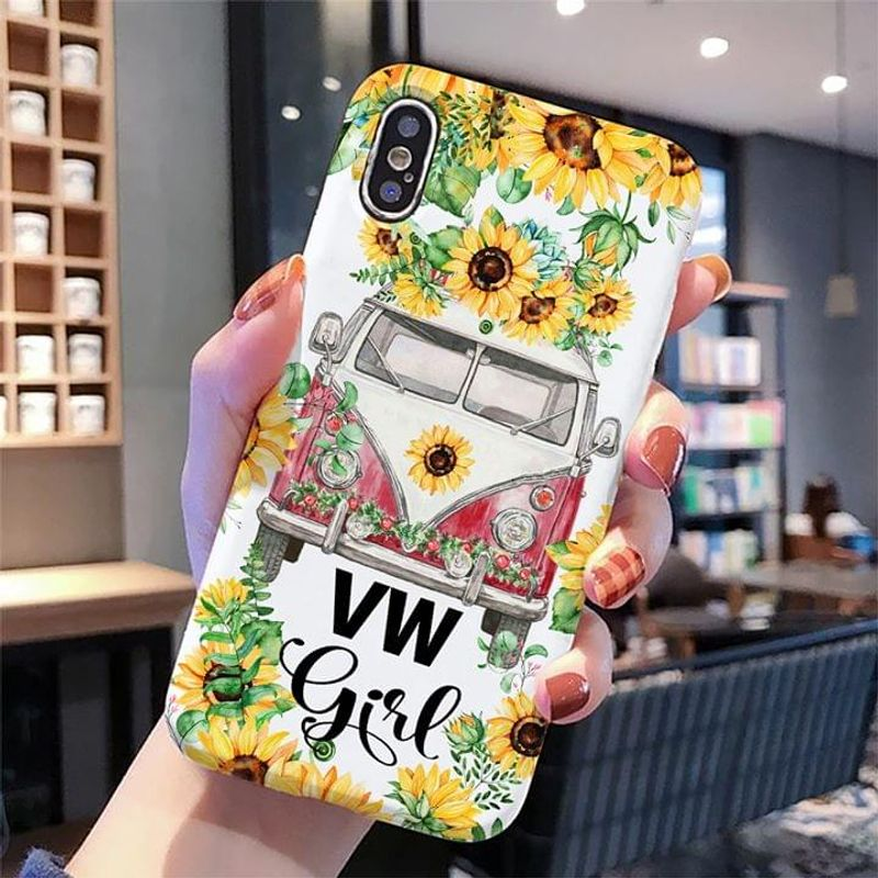 Sunflower Vw Girl Phone Case Full Sizes Iphone Samsung