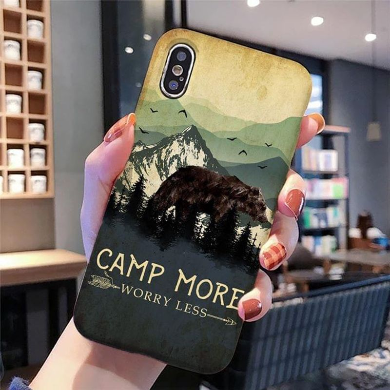 Bear Camp More Worry Less Phone Case Full Sizes Iphone Samsung