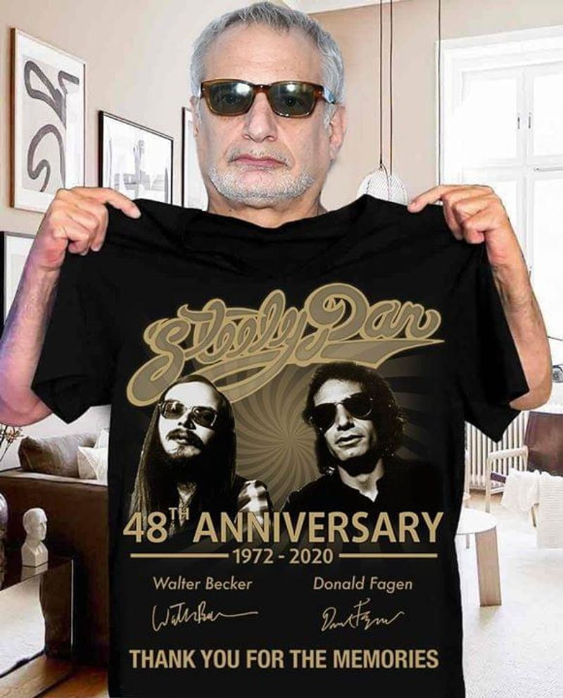 Steely Dan 48th Anniversary Thank You For The Memories Signatures T Shirt S-6xl Mens And Women Clothing