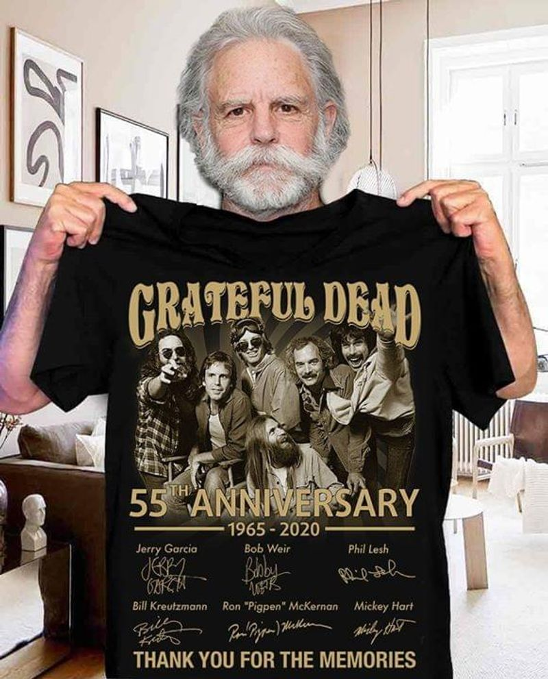 Grateful Dead 55th Anniversary Thank You For The Memories Signatures T Shirt S-6xl Mens And Women Clothing