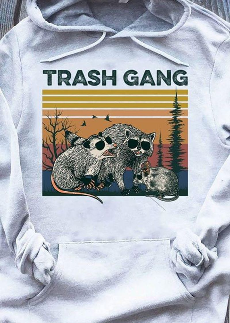 Raccoon Trash Gang Vintage Hoodie S-5xl Mens And Women Clothing