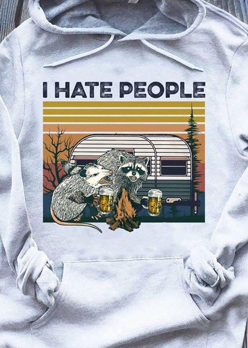 Raccoon I Hate People Vintage Hoodie S-5xl Mens And Women Clothing