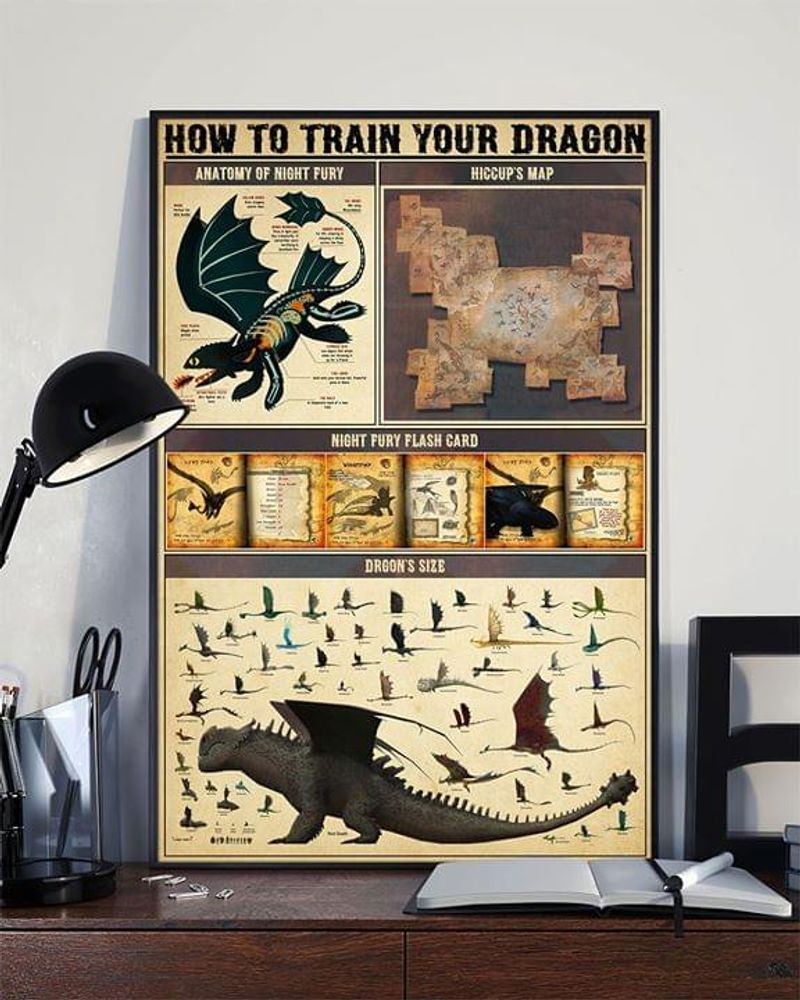 Dragon How To Train Your Dragon Poster No Frame/ Framed Canvas Wall Decor