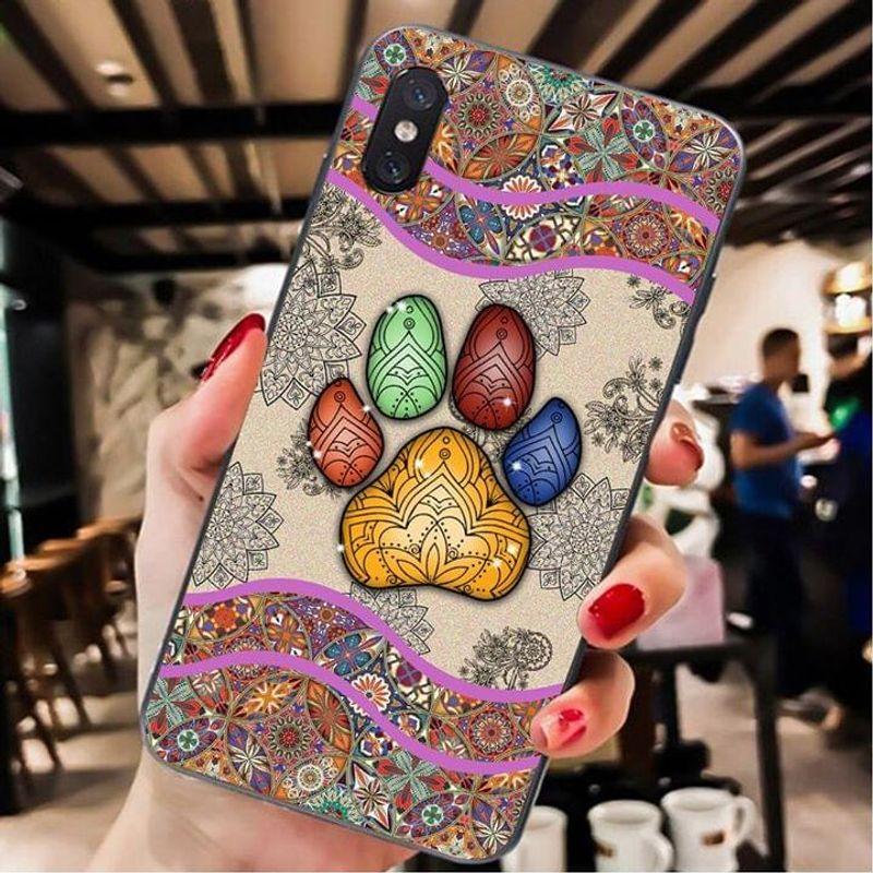 Dog Footprint Art Phone Case Full Sizes Iphone Samsung