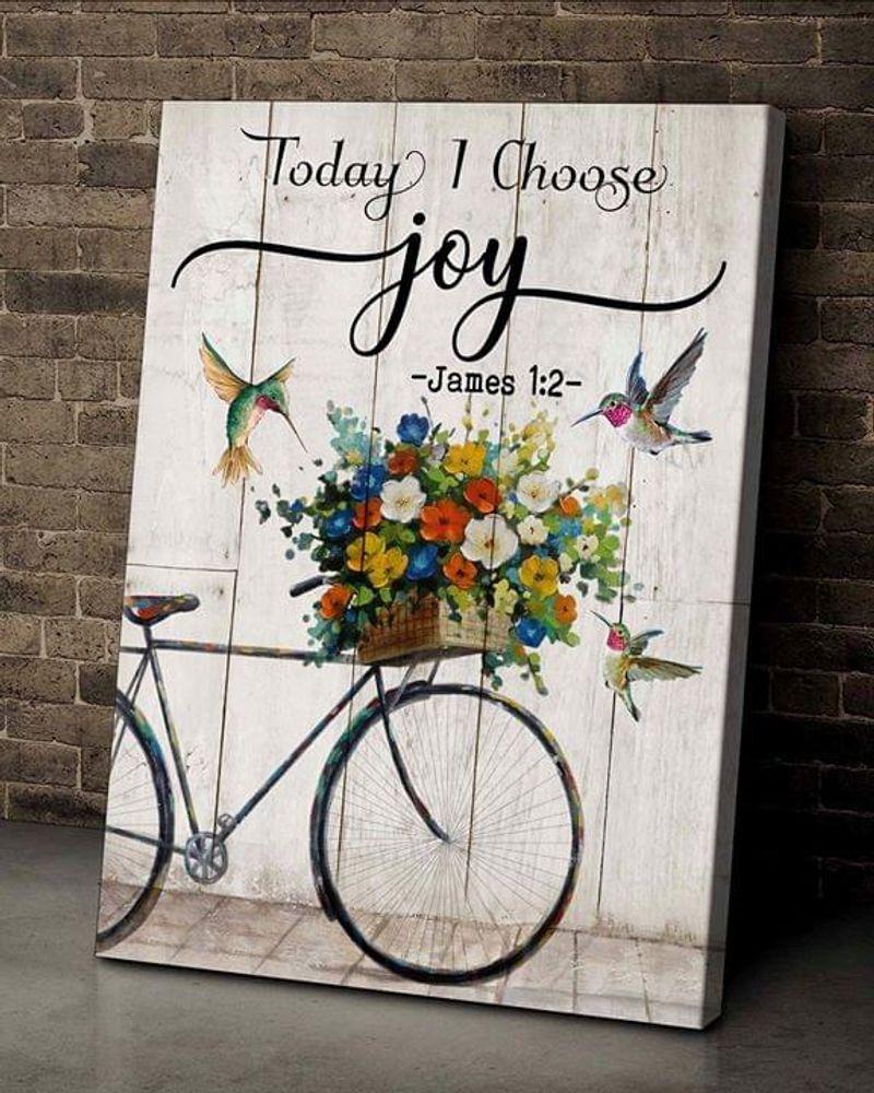 Hummingbird Today I Choose Joy Poster No Frame/ Framed Canvas Wall Decor