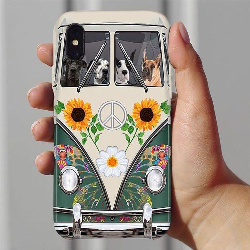 Great Dane Hippie Bus Phone Case Full Sizes Iphone Samsung