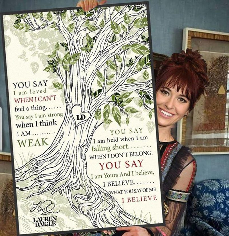 Lauren Daigle You Say Lyrics Poster No Frame/ Framed Canvas Wall Decor