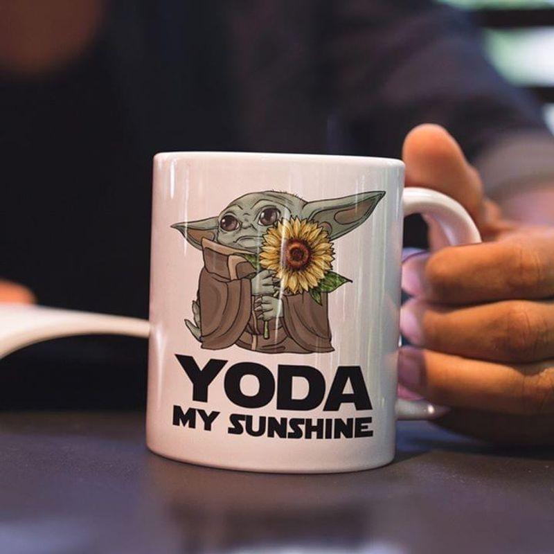 Star Wars Sunflower Baby Yoda My Sunshine Mug White Ceramic 11oz 15oz Coffee Tea Cup