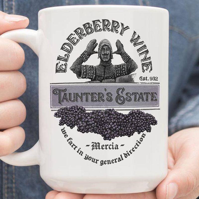 Monty Python & The Holy Grail Elderberry Wine Tainters Estate Mug White Ceramic 11oz 15oz Coffee Tea Cup