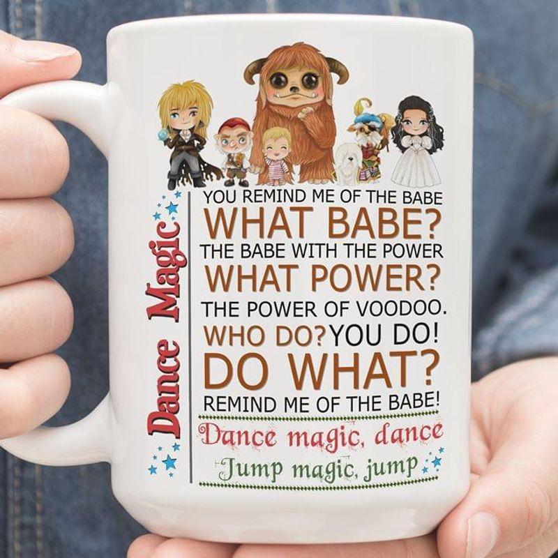 Labyrinth Dance Magic Jump Magic Mug White Ceramic 11oz 15oz Coffee Tea Cup