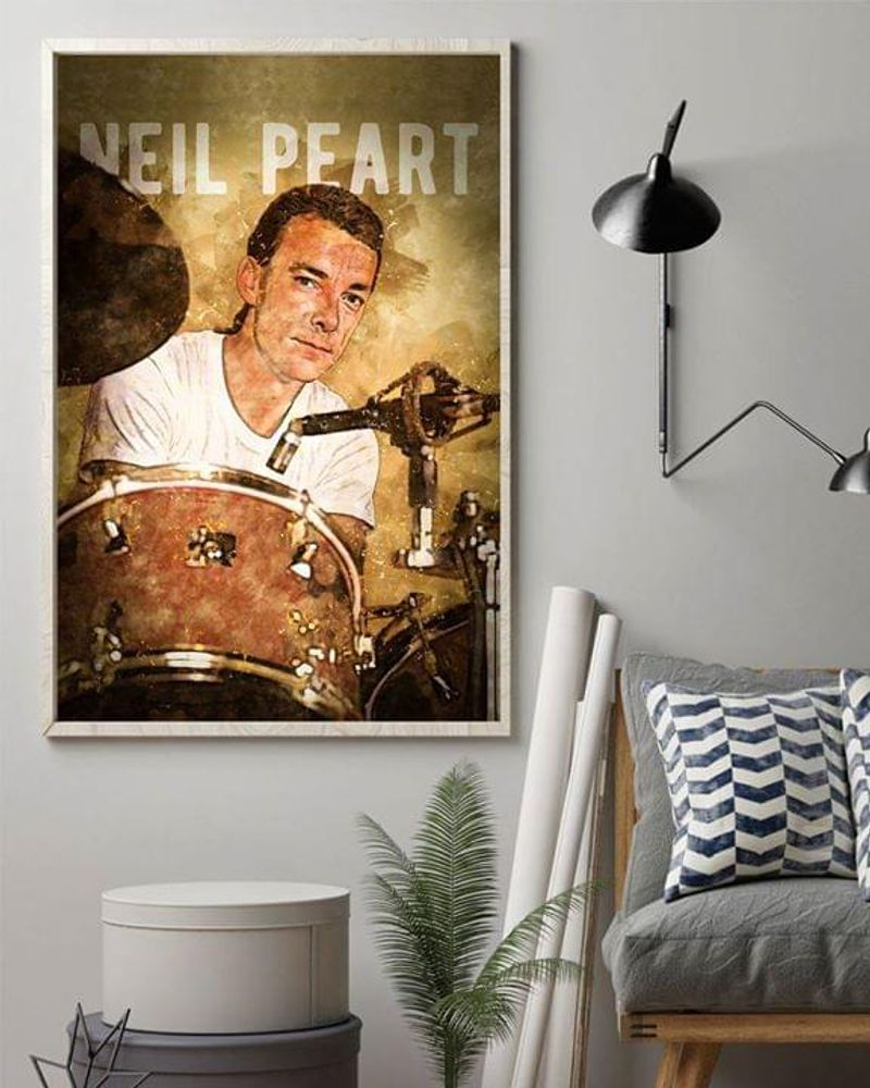 Neil Peart Drummer Poster No Frame/ Framed Canvas