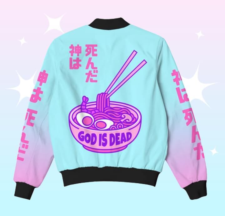 God Is Dead Japanese Noodle 3d Print Bomber 3d shirt hoodie sweatshirt