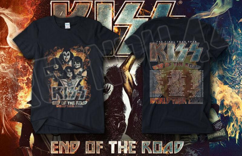 "#2020 KISS BAND ""End Of The Road"" World Tour Shirt Concert 2020 GILDAN T-SHIRT"
