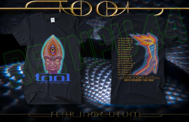 @A Tool Tour 2020 Fear Inoculum Concert Shirt GILDAN BLACK T SHIRT AMERICAN SIZE