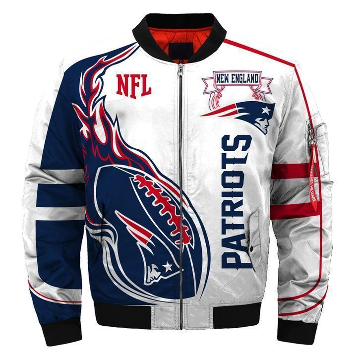 003 Nfl New England Patriots Custom North Face Winter Jacket Bomer High Quality Plus Size Jacket