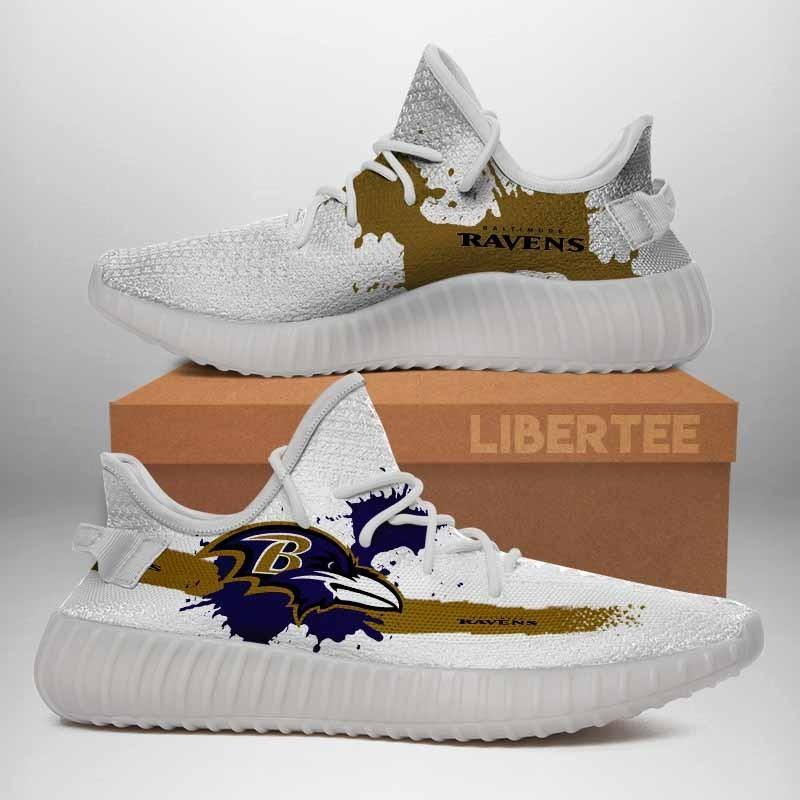 005 Baltimore Ravens Logo Custom Yeezy Running Shoes For Men Woomen Unisex Plus Size White