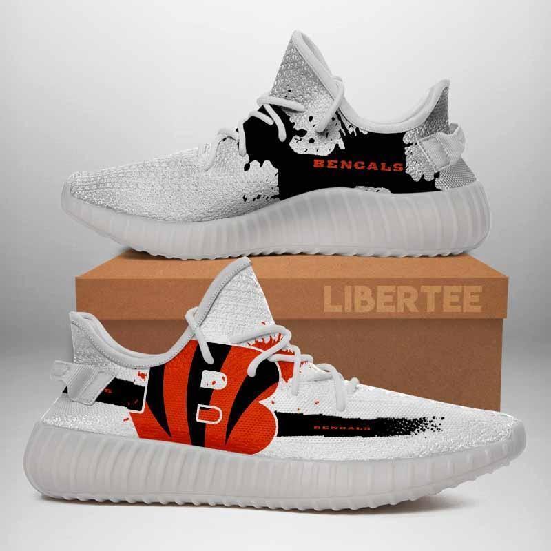 006 Cincinnati Bengals Logo Custom Yeezy Running Shoes For Men Woomen Unisex Plus Size White