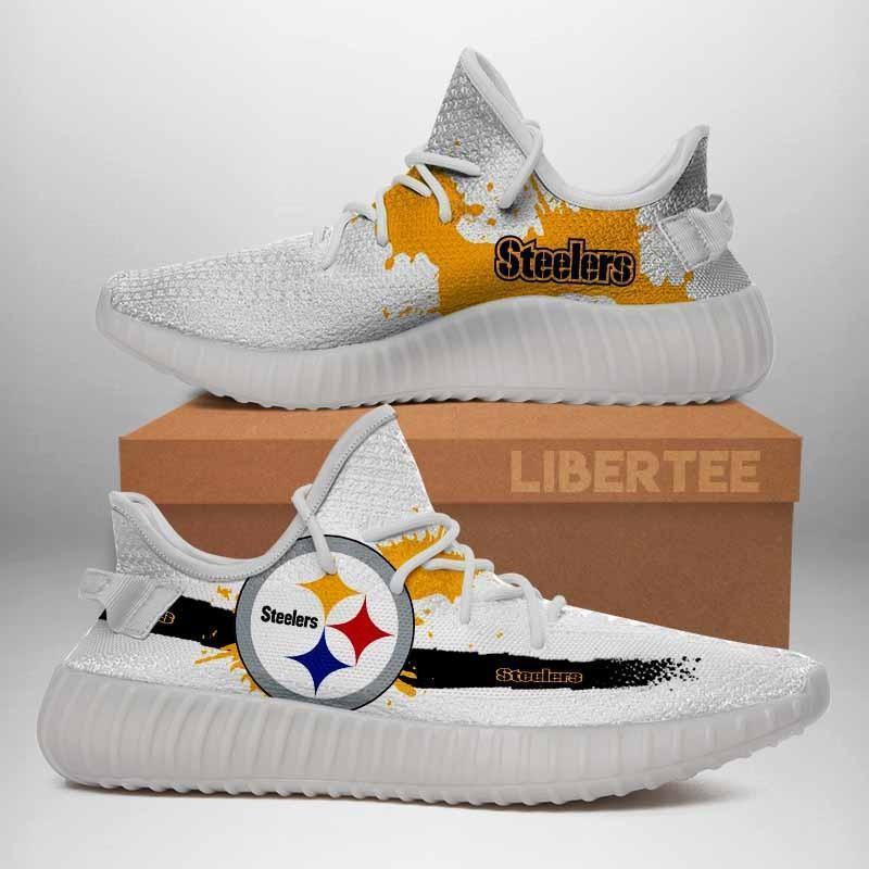008 Pittsburgh Steelers Logo Custom Yeezy Running Shoes For Men Woomen Unisex Plus Size White
