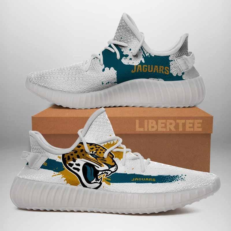 011 Jacksonville Jaguars Logo Custom Yeezy Running Shoes For Men Woomen Unisex Plus Size White
