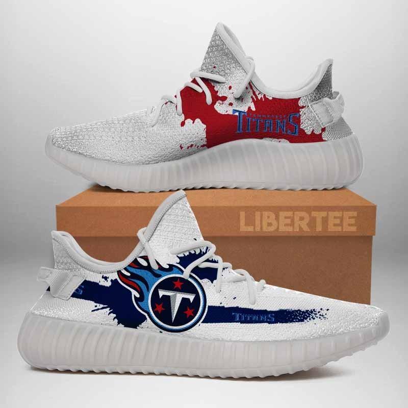 012 Tennessee Titans Logo Custom Yeezy Running Shoes For Men Woomen Unisex Plus Size White