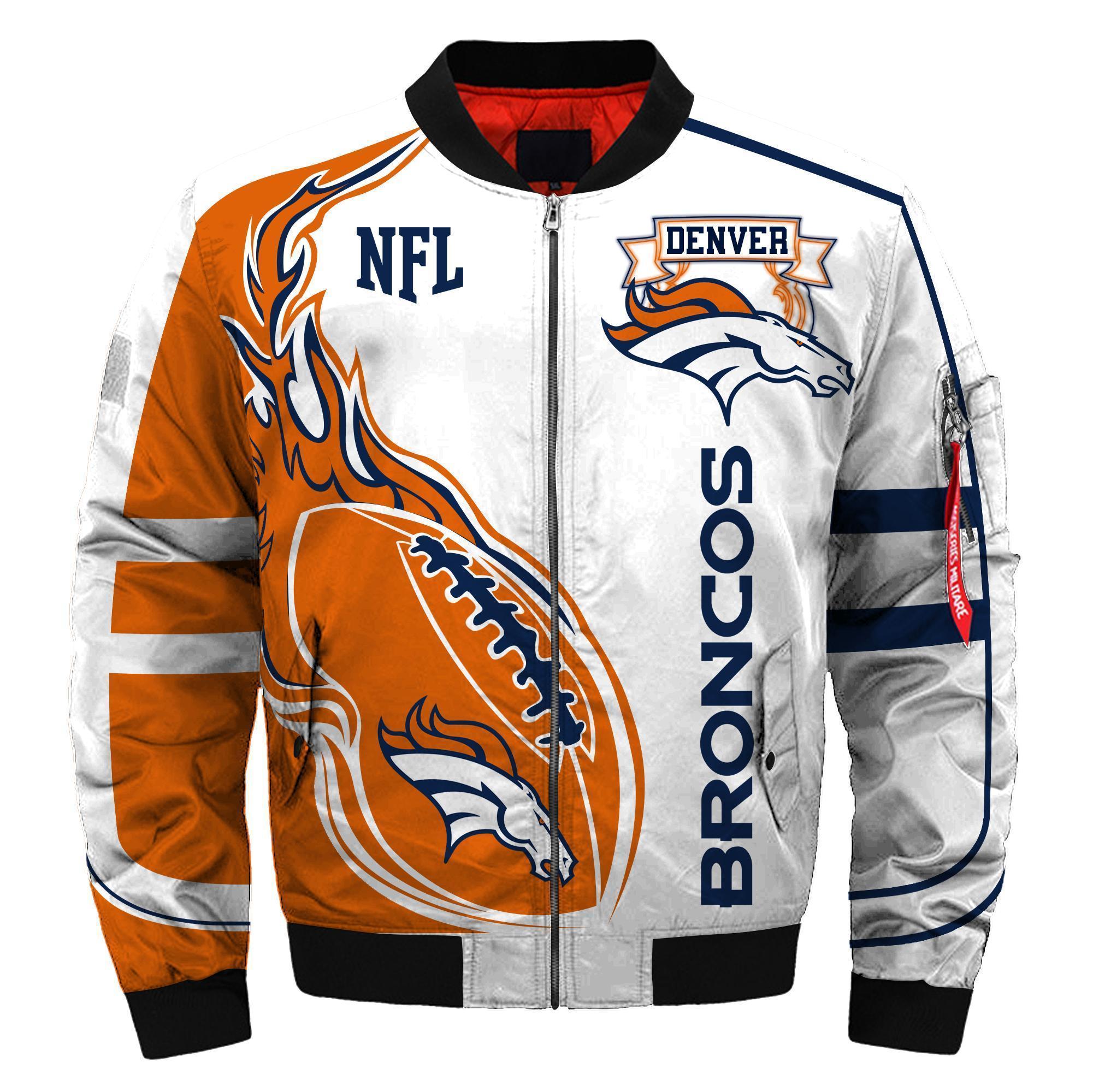 013 Nfl Denver Broncos Custom North Face Winter Jacket Bomer High Quality Plus Size Jacket