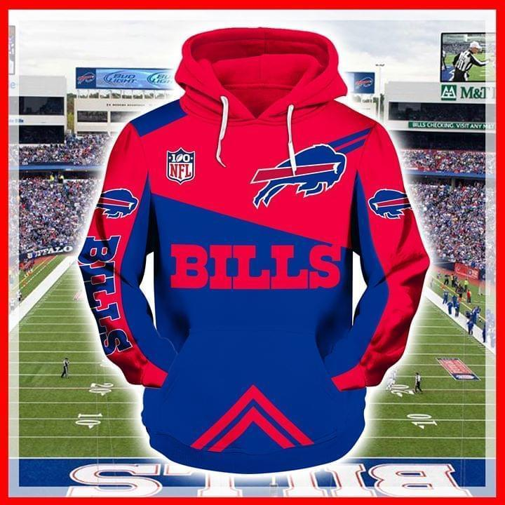 100th Nfl Buffalo Bills 3d Printed Hoodie 3d
