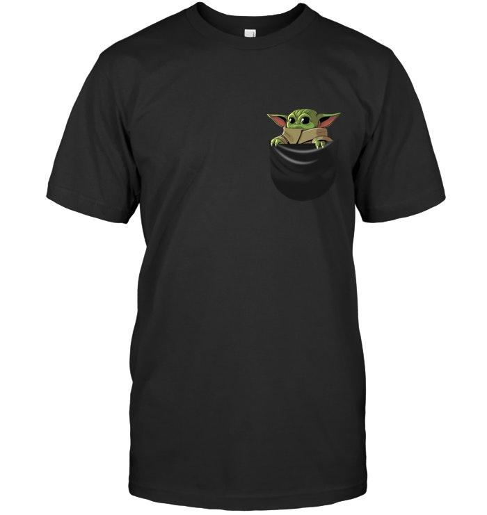 Baby Yoda In Pocket Pattern The Mandalorian Star Wars Fan T Shirt 5mr