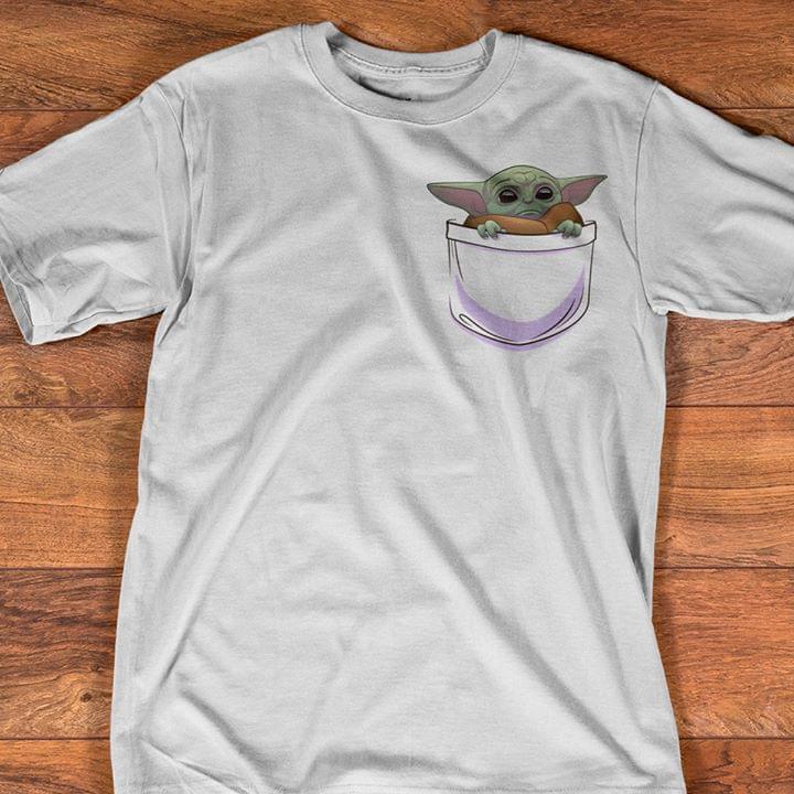 Baby Yoda In Pocket Pattern The Mandalorian Star Wars Fan T Shirt