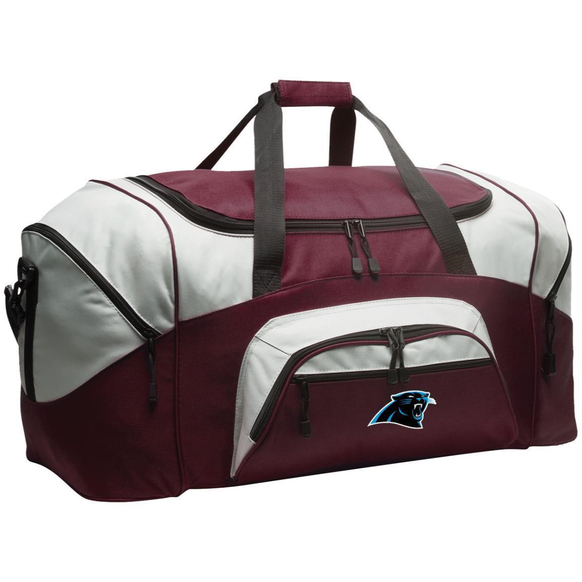 Carolina Panthers Nfl Colorblock Sport Duffel Bag