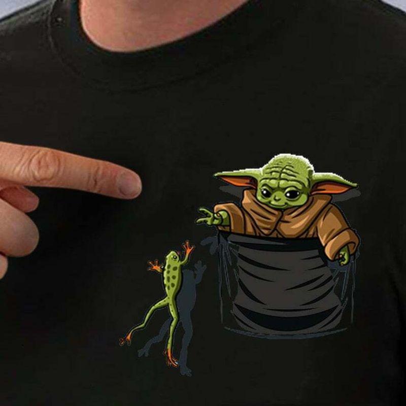 Baby Yoda Funny Pocket Tee Shirt Star Wars 43 Year 2019 Star Wars Cotton T Shirt Mens And Womens Clothing S 6xl