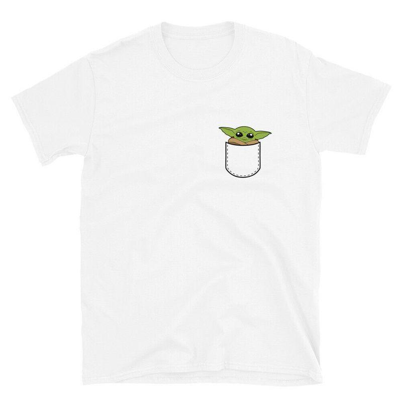 Baby Yoda In Pocket T Shirt Cute Baby Yoda T Shirt The Mandalorian Cotton T Shirt Mens And Womens Clothing S 6xl
