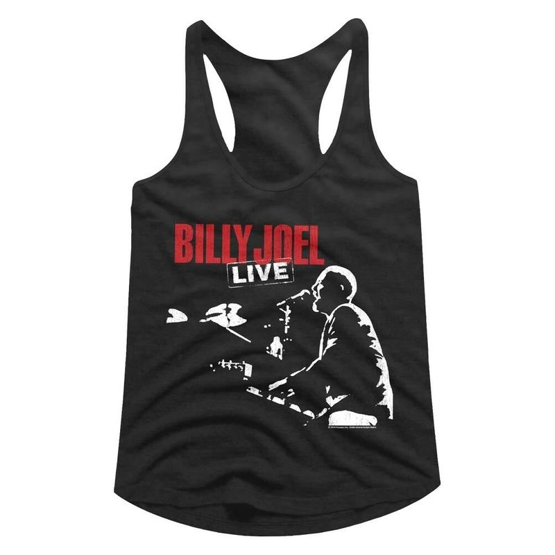 Billy Joel Live Concert 1981 Womens Tank Top Pop Concert Tour Merch Racerback