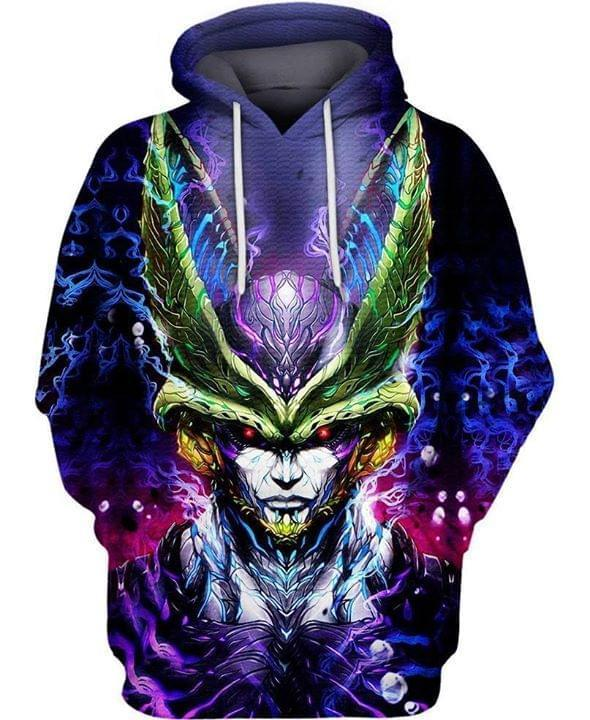 Cell Dragon Ball 3d Printed Hoodie