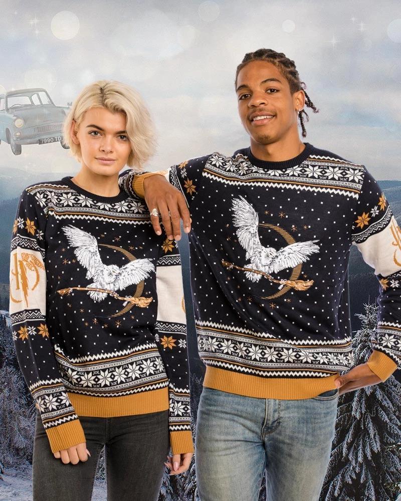 Harry Potter Hedwig Brings Magic Broomstick Christmas Knitting Pattern 3d Sweatshirt Sweatshirt 3d