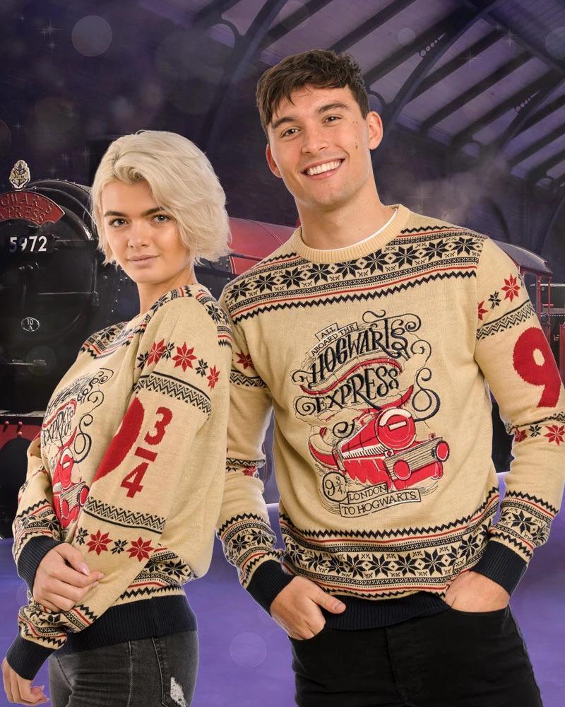 Harry Potter Hogwarts Express Christmas Knitting Pattern 3d Sweatshirt Sweatshirt 3d