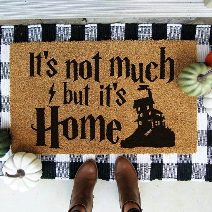 It S Not Much But It S Home Rons Home Harry Potter Doormat Doormat