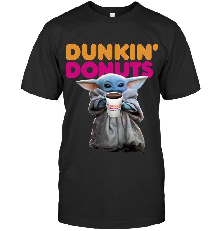 Baby Yoda Dunkin Donuts Christmas T Shirt S 6xl