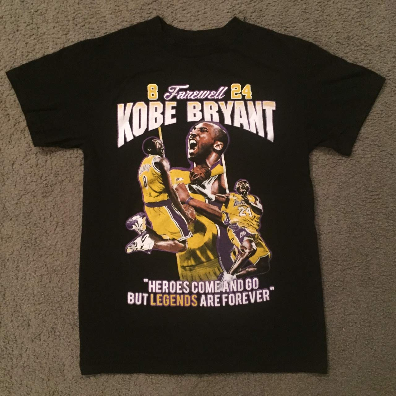 Farewell Kobe bryant Heroes Come And Go But Legends Are Forever Shirt Big Fans Customized Handmade T Shirt   Long Sleeve   Sweatshirt   Hoodie S 6xl