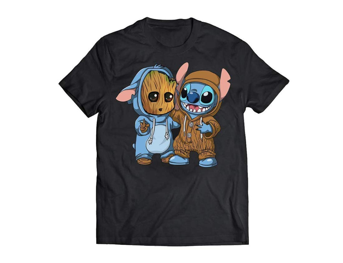 Funny Groot And Stitch T shirt Halloween Costume Gift Shirt Customized Handmade T shirt Long Sleeve T shirt Tank Top Pullover Hoodie Racerback Tank S 6xl