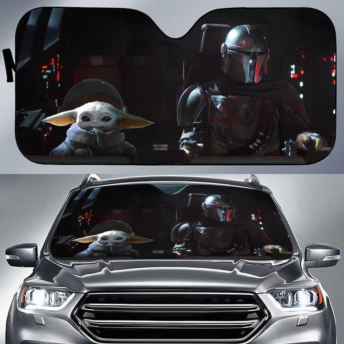 Sws Baby Yoda Auto Sunshade Xrvx