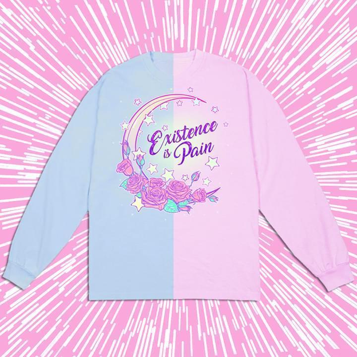 Existence Is Pain Moon Rose Flower Star Sweatshirt 3d