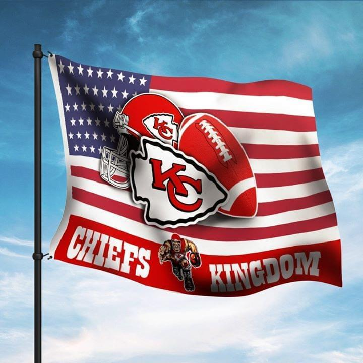 Kansas City Chiefs Chiefs Kingdom Fan American Flag